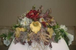Ornamental autumn wedding centerpiece