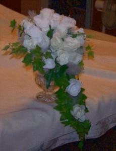 White cascading bridal bouquet