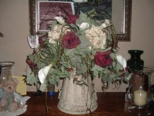 Ornamental fall wedding centerpiece