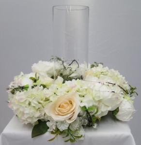 Wedding floral design course candle centerpiece
