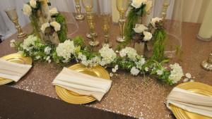 Wedding floral design table arangements